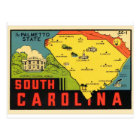 Retro Vintage Kitsch South Carolina Palmetto Decal Postcard