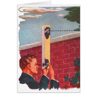 Retro Vintage Kitsch Spy On Your Neighbor! Card