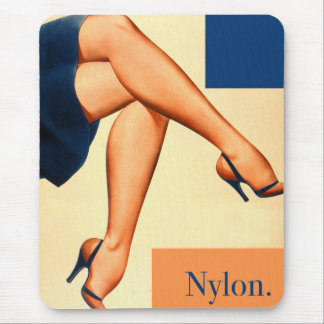 Retro Vintage Kitsch Stockings Nylons Nylon Art Mouse Pad