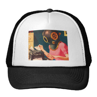 Retro Vintage Kitsch Strange Dive Helmet Secretary Cap