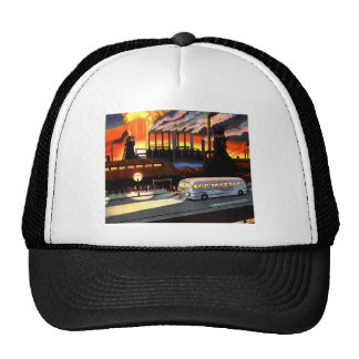 Retro Vintage Kitsch the Bus and American Industry Mesh Hats