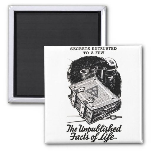 Retro Vintage Kitsch The Unpublished Facts of Life Refrigerator Magnet