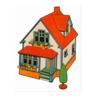 Retro Vintage Kitsch Toy Catalog Toy House Postcard