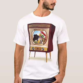 Retro Vintage Kitsch TV Color Television Set T-Shirt