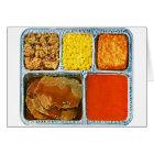 Retro Vintage Kitsch TV Dinner Beef & Tomato Soup Card