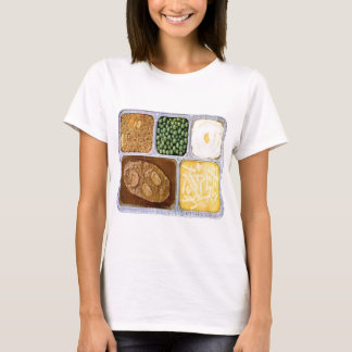 Retro Vintage Kitsch TV Dinner Sailsbury Steak T-Shirt