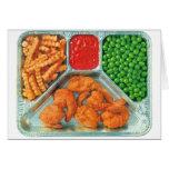Retro Vintage Kitsch TV Dinner 'Shrimp' Greeting Card