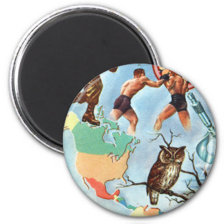 Retro Vintage Kitsch WW2 'It's Time You Knew' Fact Refrigerator Magnet
