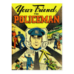 Retro Vintage Kitsch Your Friend The Policeman Postcard
