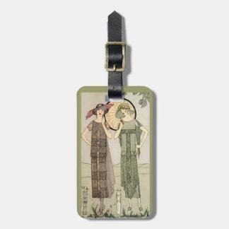 Retro Vintage Ladies Flapper Fashion Luggage Tag