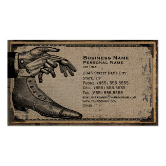 Retro Vintage Men s Fashion Shoes Business Card
