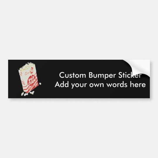 Retro Vintage Movie Theatre Popcorn Bumper Sticker