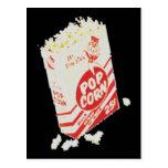 Retro Vintage Movie Theatre Popcorn Post Card