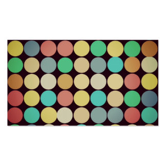 Retro Vintage Multicolored Circles Pattern Business Card