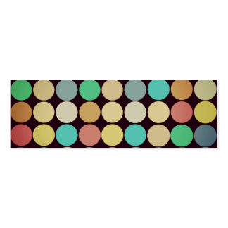 Retro Vintage Multicolored Circles Pattern Business Card Template