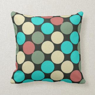 Retro Vintage Multicolored Circles Pattern Pillows