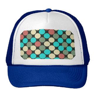 Retro Vintage Multicolored Circles Pattern Hat