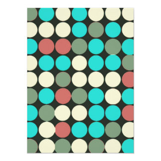 Retro Vintage Multicolored Circles Pattern Personalized Announcements