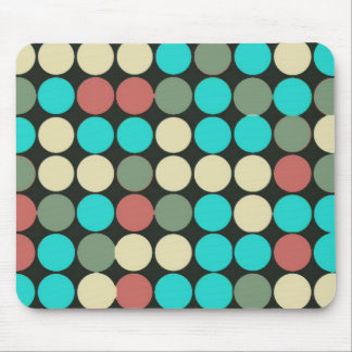 Retro Vintage Multicolored Circles Pattern Mouse Pads