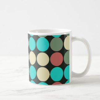 Retro Vintage Multicolored Circles Pattern Coffee Mugs