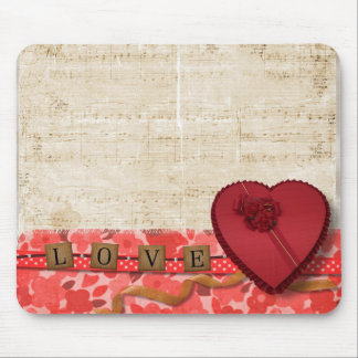 Retro Vintage Music Note Sheet Art Mouse Pad