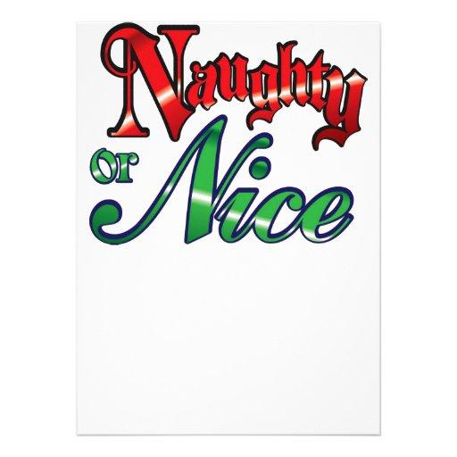 Retro Vintage Naughty or Nice Christmas Holiday Invites