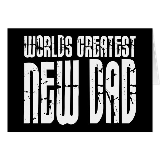 Retro Vintage New Dads : World's Greatest New Dad Greeting Cards