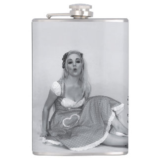 Retro Vintage Old Fashioned Pinup Babe Hip Flask