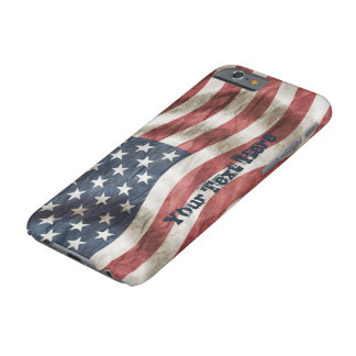 Retro Vintage Old Glory US Flag Personalized Barely There iPhone 6 Case