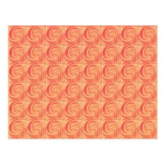 Retro Vintage Orange Swirl Pattern Postcard