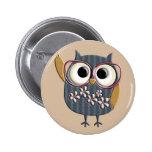 Retro Vintage Owl Buttons