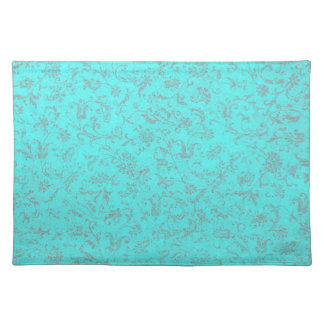 Retro Vintage Peacock Teal Placemats