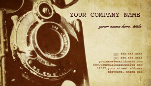 Vintage photography business cards zazzle au retro vintage photography business card reheart Choice Image