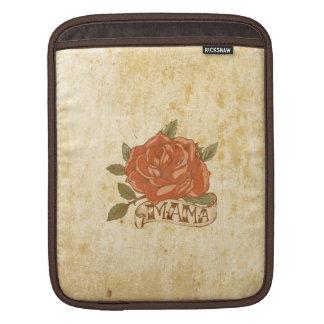Retro Vintage Red Rose Beige Background Design iPad Sleeves