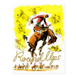 Retro Vintage Rodeo Cowboy Roundup Post Cards