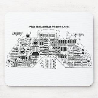 Retro Vintage Sci Fi Apollo Command Module Mousepad