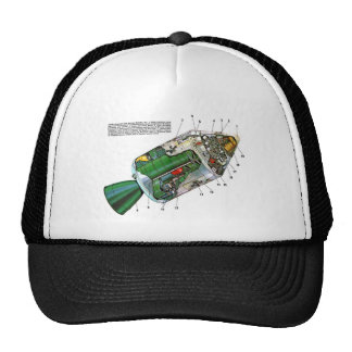 Retro Vintage Sci Fi Apollo Space Module Trucker Hat