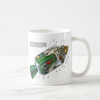 Retro Vintage Sci Fi Apollo Space Module Classic White Coffee Mug