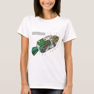 Retro Vintage Sci Fi Apollo Space Module T-Shirt