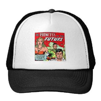 Retro Vintage Sci Fi Comic Princess of the Future Trucker Hat