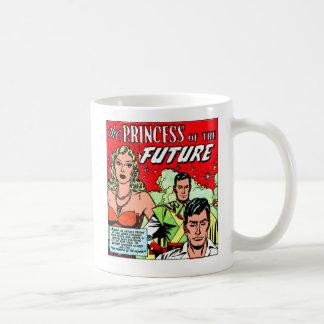 Retro Vintage Sci Fi Comic Princess of the Future Basic White Mug