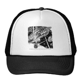 Retro Vintage Sci Fi Earth Transport attack Alien Trucker Hat