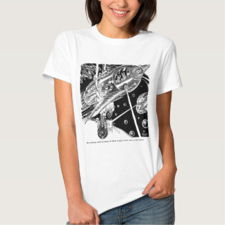Retro Vintage Sci Fi Earth Transport attack Alien T-Shirt