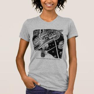 Retro Vintage Sci Fi Earth Transport attack Alien T-Shirt