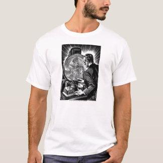 Retro Vintage Sci Fi Fantasy 'Whirling Mirror' T-Shirt