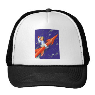 Retro Vintage Sci Fi 'Happy Little Cosmo' Trucker Hat
