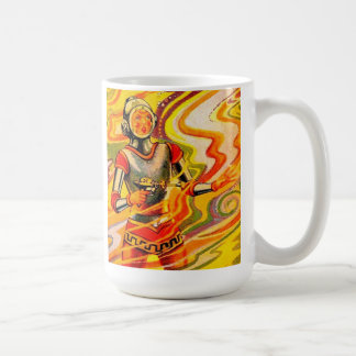 Retro Vintage Sci Fi Kitsch Space Girl Coffee Mugs