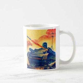 Retro Vintage Sci Fi Military TV Remote Tank Coffee Mugs