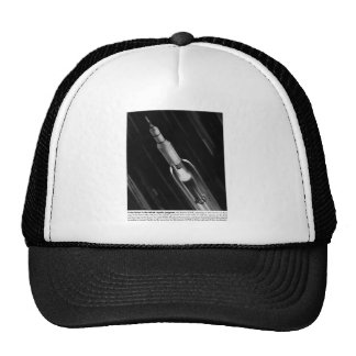 Retro Vintage Sci Fi NASA 'Saturn Rocket' Mesh Hat