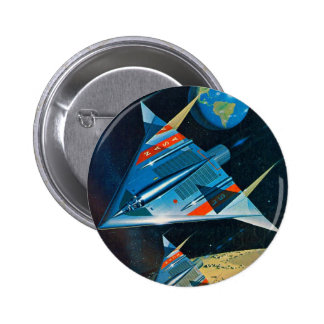 Retro Vintage Sci Fi Nasa Space Flight L-15 Buttons